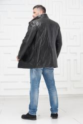 Мужская кожаная куртка на меху. Фото 4.