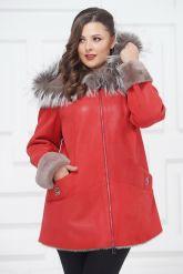 Удлиненная куртка из овчины с чернобуркой. Фото 2.