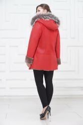 Удлиненная куртка из овчины с чернобуркой. Фото 4.