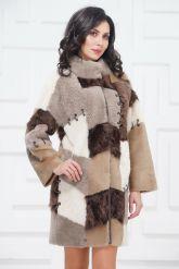 Стильное двустороннее пальто в стиле Пэчворк. Фото 3.