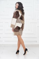 Стильное двустороннее пальто в стиле Пэчворк. Фото 4.