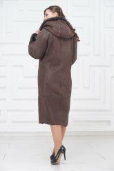 Женское пальто из овчины с капюшоном. Фото 4.