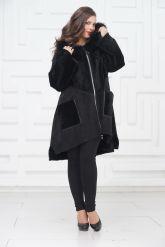 Женское пальто из овчины в стиле бохо. Фото 1.