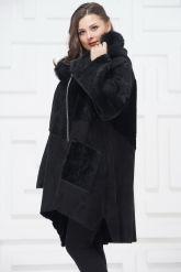 Женское пальто из овчины в стиле бохо. Фото 2.