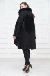 Женское пальто из овчины в стиле бохо. Фото 4.