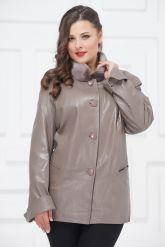 Демисезонные кожаные куртки больших размеров. Фото 3.