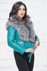 Красивая куртка бирюзового цвета. Фото 3.