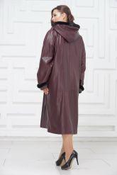 Утепленное кожаное пальто для милых дам. Фото 4.