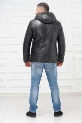Зимняя кожаная куртка с не стриженным мехом тоскана. Фото 4.