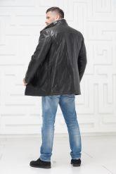 Мужская дубленка со светлым мехом. Фото 4.