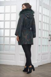 Изумрудное пальто из замши. Фото 2.