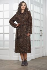Леопардовое пальто из нерпы. Фото 1.