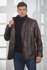 Мужская кожаная куртка больших размеров кроко. Фото 4.