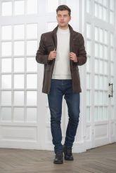 Классическая кожаная куртка для мужчин. Фото 1.