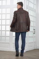 Классическая кожаная куртка для мужчин. Фото 2.