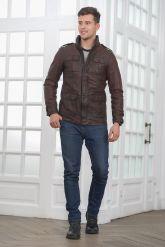 Мужская кожаная куртка в стиле Сафари. Фото 1.