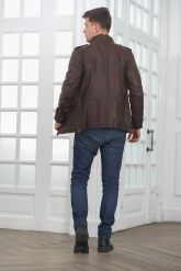 Мужская кожаная куртка в стиле Сафари. Фото 2.