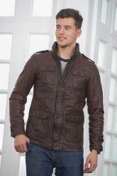 Мужская кожаная куртка в стиле Сафари. Фото 3.