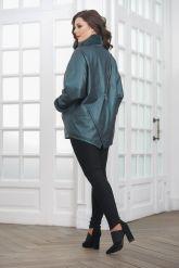Женская кожаная куртка с мехом. Фото 2.