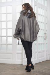 Короткая кожаная куртка с мехом летучая мышь. Фото 2.