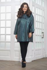 Демисезонная кожаная куртка в стиле оверсайз. Фото 5.