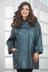 Демисезонная кожаная куртка в стиле оверсайз. Фото 2.