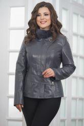 Приталенная кожаная куртка женская. Фото 4.