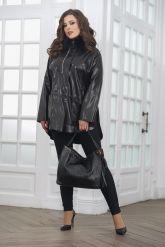 Комбинированная кожаная куртка для милых дам. Фото 1.