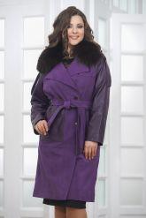 Итальянское пальто фиолетового цвета. Фото 2.