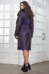 Итальянское пальто фиолетового цвета. Фото 3.
