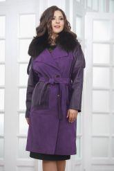 Итальянское пальто фиолетового цвета. Фото 4.