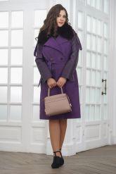 Итальянское пальто фиолетового цвета. Фото 5.