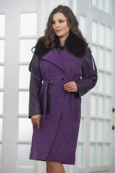Итальянское пальто фиолетового цвета. Фото 6.