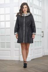 Удлиненная женская кожаная куртка. Фото 2.