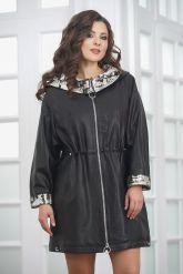 Удлиненная женская кожаная куртка. Фото 4.