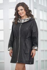 Удлиненная женская кожаная куртка. Фото 5.