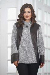 Нарядная женская куртка из замши. Фото 5.