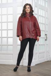 Женская кожаная куртка красивого цвета. Фото 3.