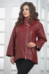 Женская кожаная куртка красивого цвета. Фото 5.