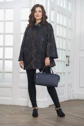 Женская удлиненная куртка из замши. Фото 1.