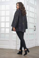 Женская удлиненная куртка из замши. Фото 2.