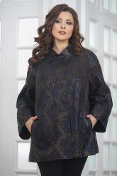Женская удлиненная куртка из замши. Фото 5.