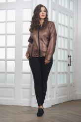 Короткая  женская кожаная куртка. Фото 3.