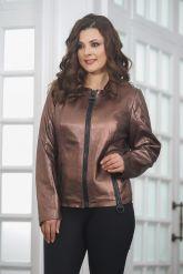 Короткая  женская кожаная куртка. Фото 4.