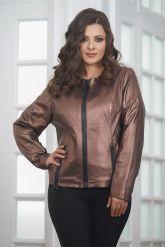 Короткая  женская кожаная куртка. Фото 5.