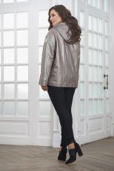 Кожаная женская куртка со вставками из натурального питона. Фото 2.