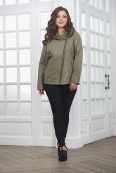 Женская кожаная куртка косуха с капюшоном. Фото 2.