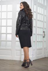Женская кожаная куртка со вставками из натурального питона. Фото 2.