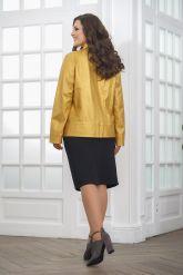 Весенняя кожаная куртка косуха для женщин. Фото 2.
