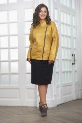 Весенняя кожаная куртка косуха для женщин. Фото 3.